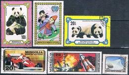 Mongolia 1977 / 78  -  Michel  1074 + 1083 + 1098 + 1110 + 1111 + 1126  ( Usados ) - Mongolia