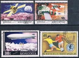 Mongolia 1977 / 79  -  Michel  1119 + 1150 + 1263 + 1264  ( Usados ) - Mongolia