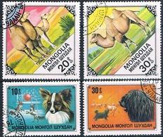 Mongolia 1978 / 79  -  Michel   1171 + 1173 + 1185 + 1186  ( Usados ) - Mongolia