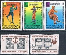 Mongolia 1979 / 80  -  Michel   1230 + 1231 + 1271 / 73  ( Usados ) - Mongolia