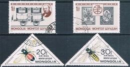 Mongolia 1979 / 80  -  Michel   1230 + 1231 + 1279 + 1280  ( Usados ) - Mongolia