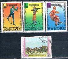 Mongolia 1979 / 80  -  Michel   1223 + 1271 / 73  ( Usados ) - Mongolia