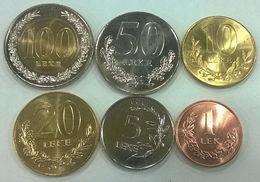 ALBANIA SERIE 6 MONETE1-5-10-20-50-100 LEKE CON BIMETALLICA UNC - Albanië
