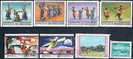 Mongolia 1975 / 79  -  Michel   984 + 1040 / 44 + 1223 + 1263 + 1264    ( Usados ) - Mongolia