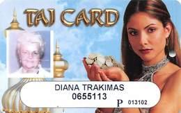 Trump Taj Mahal Casino Atlantic City NJ - Slot Card - With Player Photo - Casinokarten