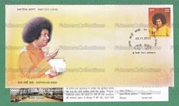 INDIA 2013 Inde Indien - SATHYA SAI BABA 1v FDC + Brochure MNH ** - Hinduism, Indian Guru, Spiritual Leader - As Scan - Hinduism