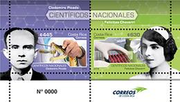 MNH SHEET COSTA RICA, 2019 Costa Rica Stamps Cientificos Nacionales MNH Minisheet 2019 - Costa Rica