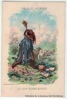 """Carte Publicitaire Avec Fables De Lafontaine """" Le Loup Devenu Berger """" (texte Au Dos) - Vieux Papiers"""