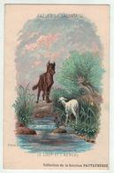 """Carte Publicitaire Avec Fables De Lafontaine """" Le Loup Et L'agneau """" (texte Au Dos) - Vieux Papiers"""
