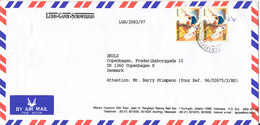 Indonesia Air Mail Cover Sent To Denmark 8-8-1997 - Indonesia