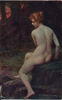 PAPPERITZ: La Source Forestière [ Nu Femme CPA Allemande ] EV039 - Tableaux