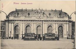 6-MILANO-STAZIONE CENTRALE-TRAM-PUBBLICITA FOTOCROMO-CARTOLINE - Stazioni Senza Treni
