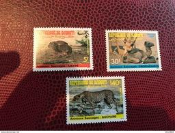 DJIBOUTI 1987 Rare Animals Mi 491 492 493 3 V Neuf ** MNH Wildlife - Sellos
