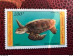 DJIBOUTI 1975 1 V Neuf ** MNH Mi 575 Turtle - Mundo Aquatico