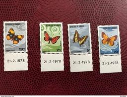 DJIBOUTI 1978 Dates 21/12/78 4 V Neuf ** MNH YT 477 478 479 480 Butterflies Of Djibouti - Mariposas