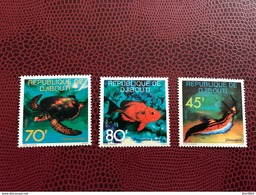 DJIBOUTI 1977 3 V Neuf ** MNH YT 465 466 467 Marine Life Fish Poisson Pesce - Peces
