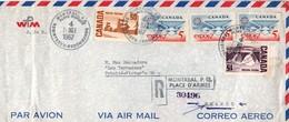 Montréal Place D'armes 1967 - Registered Recommandé - Lettre Cover Brief - 1952-.... Elizabeth II