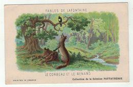 """Carte Publicitaire Avec Fables De Lafontaine """" Le Corbeau Et Le Renard """" (texte Au Dos) - Vieux Papiers"""