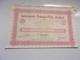 GAUMONT FRANCO FILM AUBERT (1930) - Actions & Titres