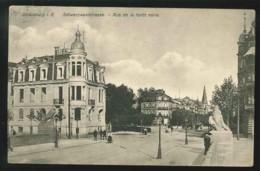 CPA 67 STRASBOURG RUE DE LA FORET NOIRE ANIMEE 1912 KUNST. E. HARTMANN STRASBOURG 1907 N°81 - Strasbourg