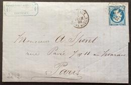 22-2 Gironde Boîte Mobile Bordeaux GC 532 7/2/1866 Lettre Doris, Laroze Gomme Sénégal Poivre Vanille Vins Spiritueux - Postmark Collection (Covers)
