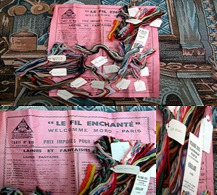 """Echantillons De Laine Avec Tarif Du 1er Février 1935 """"LE FIL ENCHANTE"""" Welcomme Moro - Paris_L12 - Dentelles Et Tissus"""