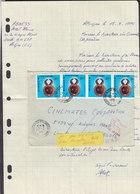 Ivory Coast ABIDJAN 1976 Cover Brief LOS ANGELES United States RETURNED Adresse Unknown 4-Stripe - Côte D'Ivoire (1960-...)