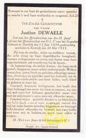 DP Justine Dewaele ° Deerlijk 1854 † Kortrijk 1933 - Devotieprenten