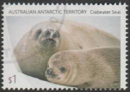 AUSTRALIAN ANTARCTIC TERRITORY - USED 2018 $1.00 Crab Eater Seals - Seal And Pup - Australian Antarctic Territory (AAT)
