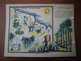 Guyane : Rare Et Belle Carte Pédagogique D'après Un Dessin De  Maurice Tranchant (1935). - Documents Historiques