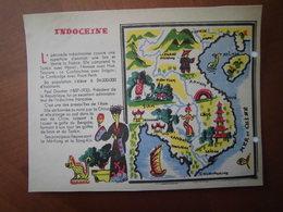 Indochine : Rare Et Belle Carte Pédagogique D'après Un Dessin De  Maurice Tranchant (1935). - Historical Documents