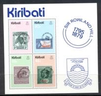 Kiribati 1979 Sir Rowland Hill Death Centenary MS MUH - Kiribati (1979-...)