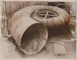 WORLDS BIGGEST WATER TURBINE  MUNICH ENGINEER FRITZ NEUMERAR ISAR RIVER NIAGARA    21*16M Fonds Victor FORBIN 1864-1947 - Profesiones