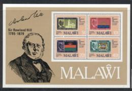 Malawi 1979 Sir Rowland Hill Death Centenary MS MUH - Malawi (1964-...)
