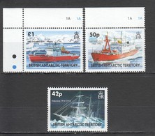 WW821 BRITISH ANTARCTIC TERRITORY SHIPS ENDURANCE #397-99 MICHEL 23 EURO SET MNH - Expéditions Antarctiques