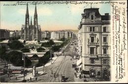Cp Wien 9. Alsergrund Österreich, Maximilianplatz Mit Votivkirche Und Währinger Straße - Altri