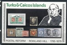 Turks & Caicos Is 1979 Sir Rowland Hill Death Centenary MS MUH - Turks And Caicos