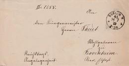 """LAC En Franchise """"Reichtags Angelegenheit"""" Obl BERLIN W. Du 24.7.79 Adressée à Fessenheim Haut-Rhin - Deutschland"""