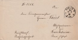 "LAC En Franchise ""Reichtags Angelegenheit"" Obl BERLIN W. Du 24.7.79 Adressée à Fessenheim Haut-Rhin - Germania"