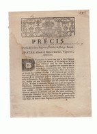 Nièvre: Procès Entre Un Fermier De Guipy Et  Sous-Fermiers - Historical Documents