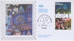 Enveloppe   FDC  1er   Jour   Fêtes  Et  Traditions  De  Nos  Régions   2011 - 2010-....