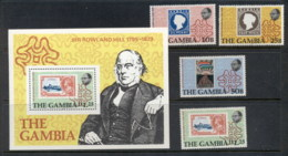 Gambia 1979 Sir Rowland Hill Death Centenary + MS MUH - Gambia (1965-...)
