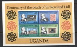 Uganda 1979 Sir Rowland Hill Death Centenary MS MUH - Uganda (1962-...)