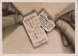 RAIWAY TICKETS WITH ADVERTISING INSETS LMS 1931   16*12CM Fonds Victor FORBIN 1864-1947 - Trenes