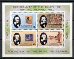 Zambia 1979 Sir Rowland Hill Death Centenary MS MUH - Zambia (1965-...)