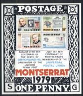 Montserrat 1979 Sir Rowland Hill Death Centenary MS MUH - Montserrat