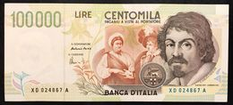 100000 Lire Caravaggio II° Tipo Serie Sostitutiva XD 1997 Q.sup LOTTO 1876 - [ 2] 1946-… : Repubblica