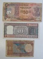 Billet. 17. Inde. 2, 10 Et 50 Rupees. - Gambie