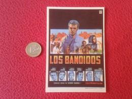 SPAIN ANTIGUO PROGRAMA DE CINE FOLLETO MANO OLD CINEMA PROGRAM PROGRAMME FILM PELÍCULA LOS BANDIDOS ROBERT CONRAD VER FO - Publicidad