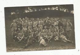 Cp, Carte Photo K. Montag , Bitsch. Landauer , Militaria ,  Militaires , Médailles,  Vierge - Personaggi